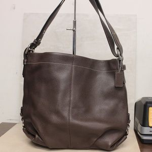 Coach Leather Duffle F15064 Shoulder Bag Brown
